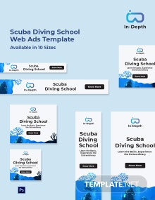 Scuba Diving School Web Ads Template