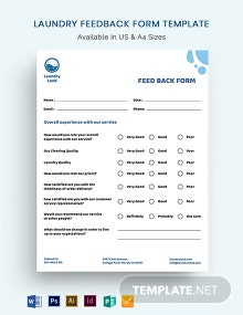 Laundry Feedback Form Template