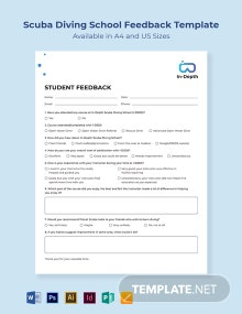 Scuba Diving School Feedback Template