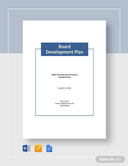 Board Development Plan Template