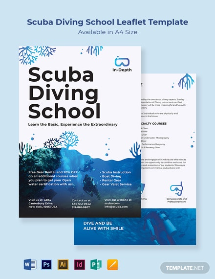 Scuba Diving School Leaflet Template