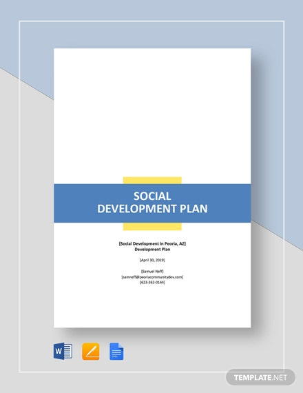 Social Development Plan Template