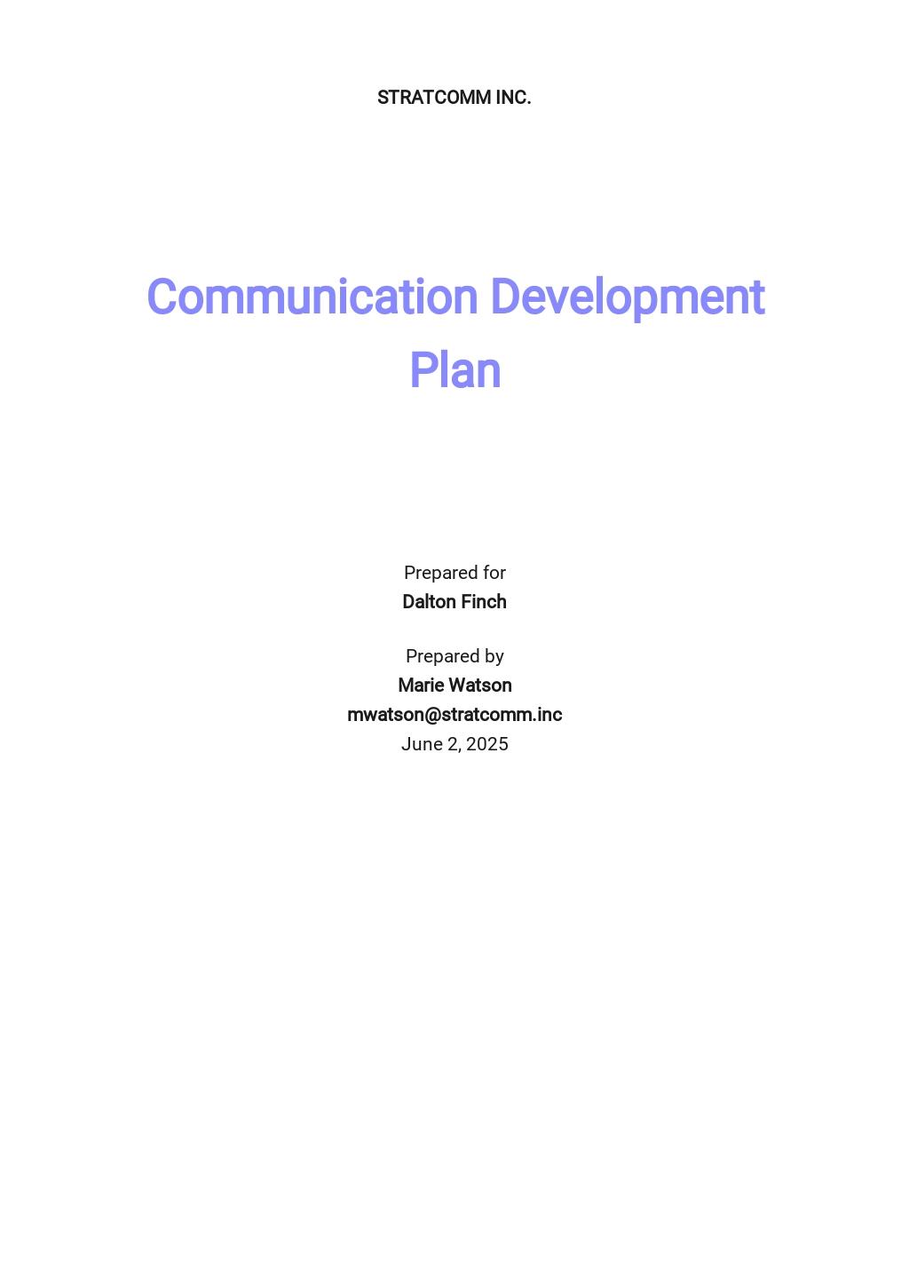 Communication Development Plan Template.jpe