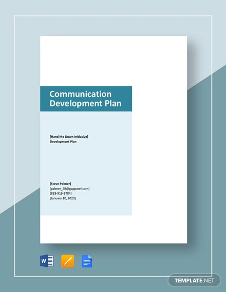 Communication Development Plan Template