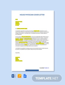 Free House Physician Cover Letter Template