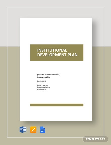 Institutional Development Plan Template