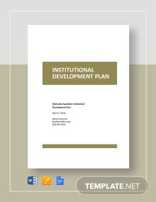Institutional Development Plan Template