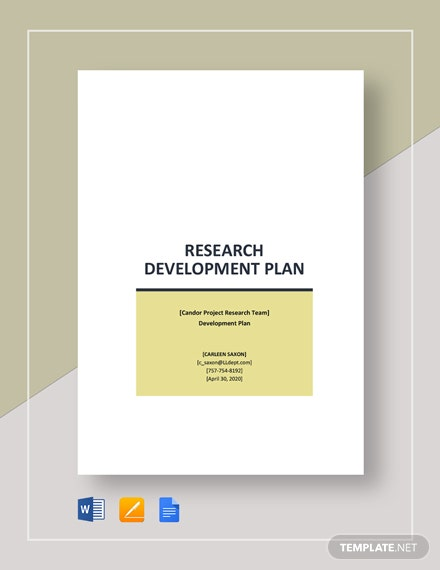 Research Development Plan Template
