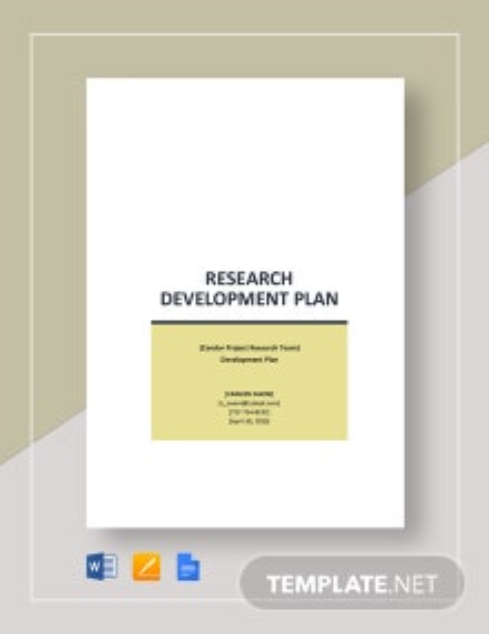 Research Development Plan Template
