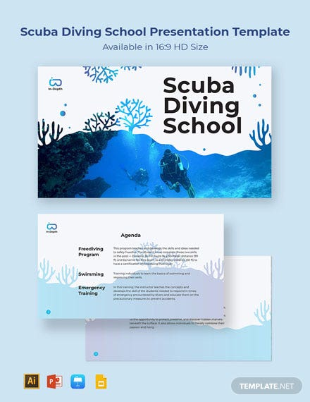 Scuba Diving School Presentation Template