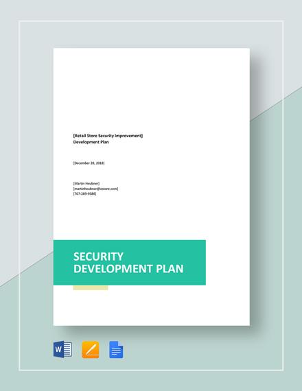 Security Development Plan Template