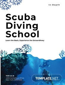 Scuba Diving School Pamphlet Template
