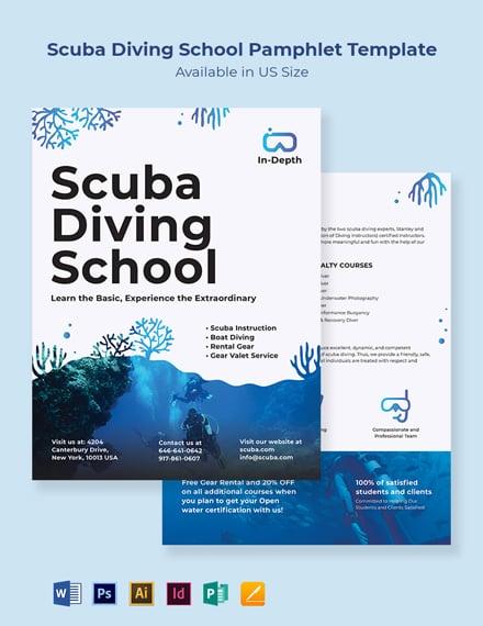 Scuba Diving School Pamphlet Template
