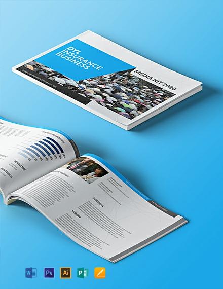 Free Insurance Business Media Kit Template