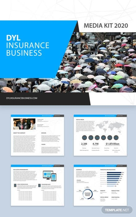Insurance Business Media Kit Template