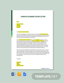Free Campus Planner Cover Letter Template