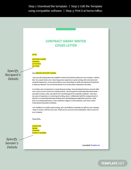 Contract Grant Writer Job Description Template