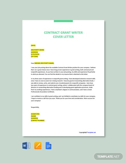 Free Contract Grant Writer Job Description Template