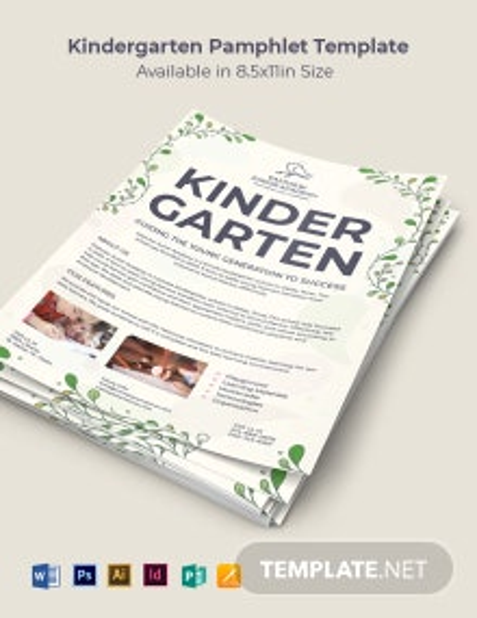 Kindergarten Pamphlet Template
