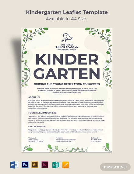 Kindergarten Leaflet Template