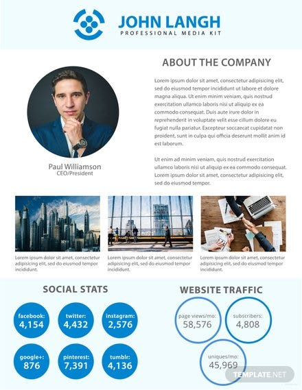 Free Media Kit Templates for Business | Free Templates
