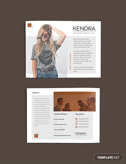 Free Blogger Media Kit Template