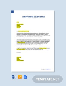 Free Script Writer Cover Letter Template