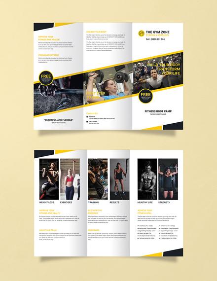 Free Gym Tri-Fold Brochure Template