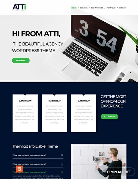 Free Corporate Agency HTML5/CSS3 Website Template