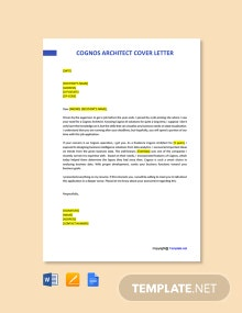 Free Cognos Architect Cover Letter Template