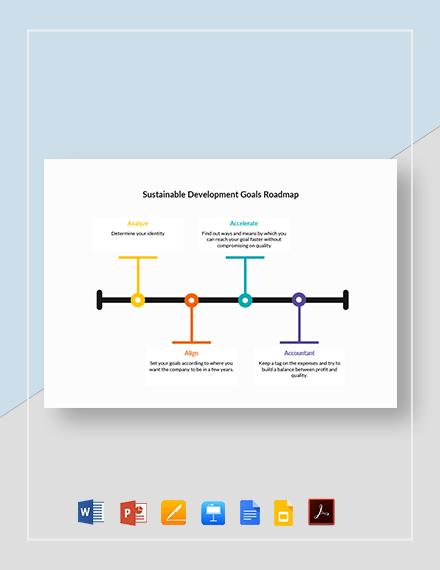 Sustainable Development Goals Roadmap Template