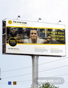 Gym BillBoard Banner Template