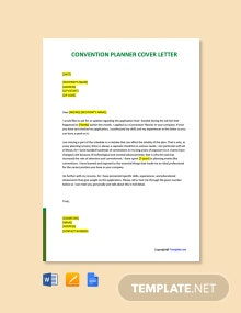 Free Convention Planner Cover Letter Template