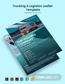 Trucking Logistics Leaflet Template