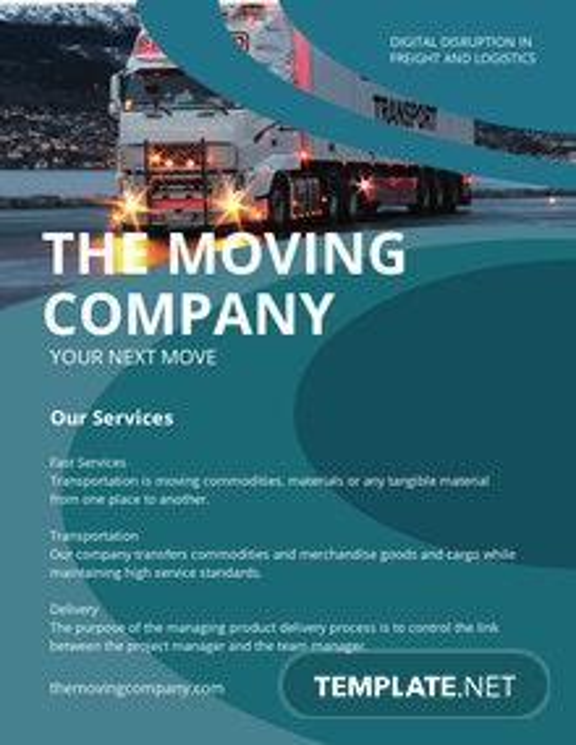 Trucking Logistics Pamphlet Template