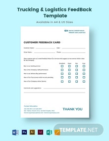 Trucking Logistics Feedback Template