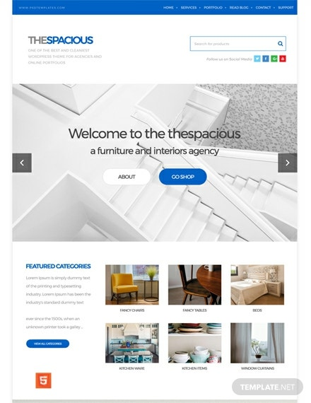 Free Interior Design Firm HTML5/CSS3 Website Template