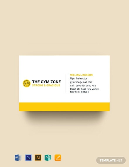 Free Gym Business Card Template