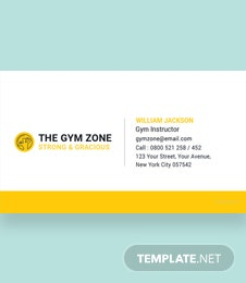 Gym Business Card Template