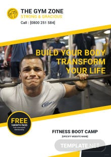 Free Gym eBook Cover Template