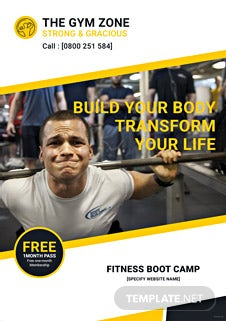 Gym eBook Cover Template