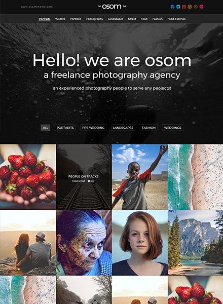 Freelance Photographer HTML5/CSS3 Website Template