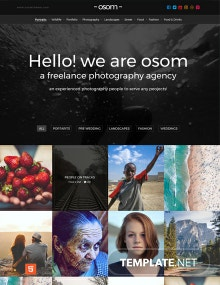 Freelance Photographer HTML5/CSS3 Website Template