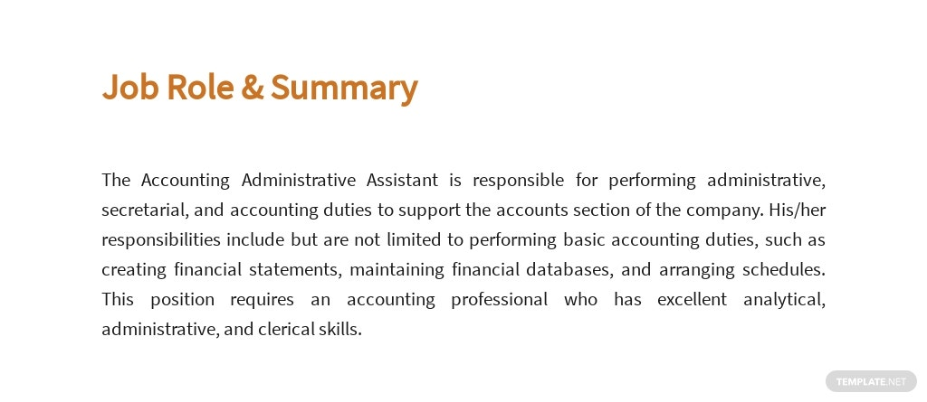 Free Accounting Administrative Assistant Job Ad/Description Template 2.jpe