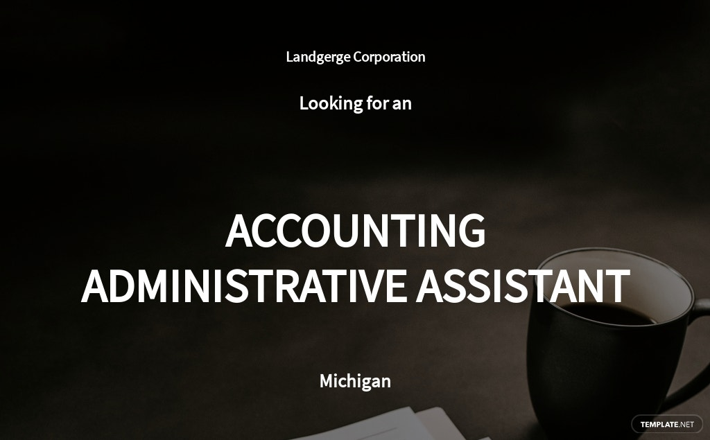 Free Accounting Administrative Assistant Job Ad/Description Template.jpe