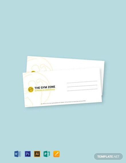 Free Gym Envelope Template