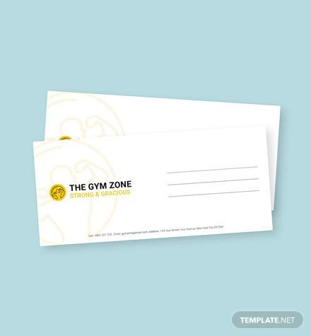 Gym Envelope Template