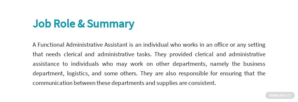 Free Functional Administrative Assistant Job Ad/Description Template 2.jpe