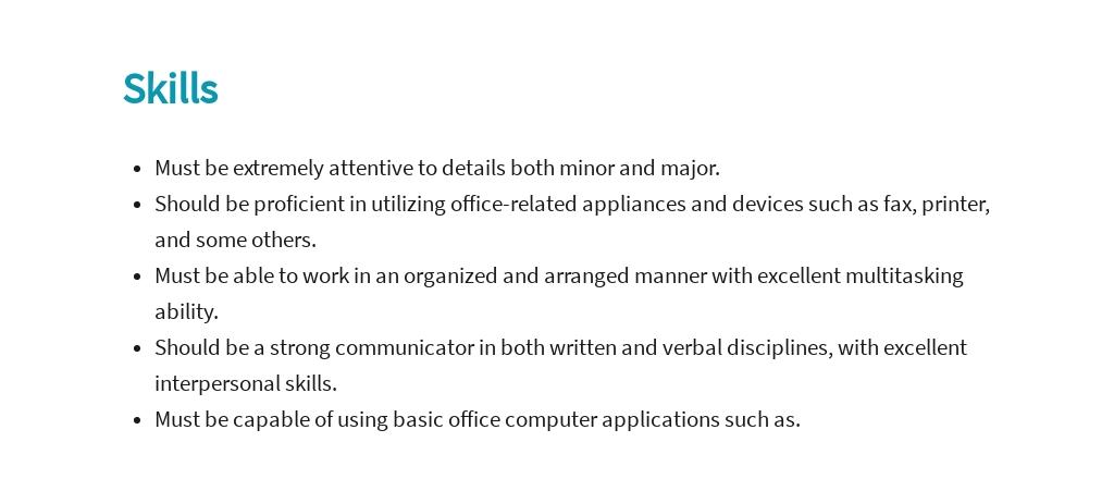 Free Functional Administrative Assistant Job Ad/Description Template 4.jpe
