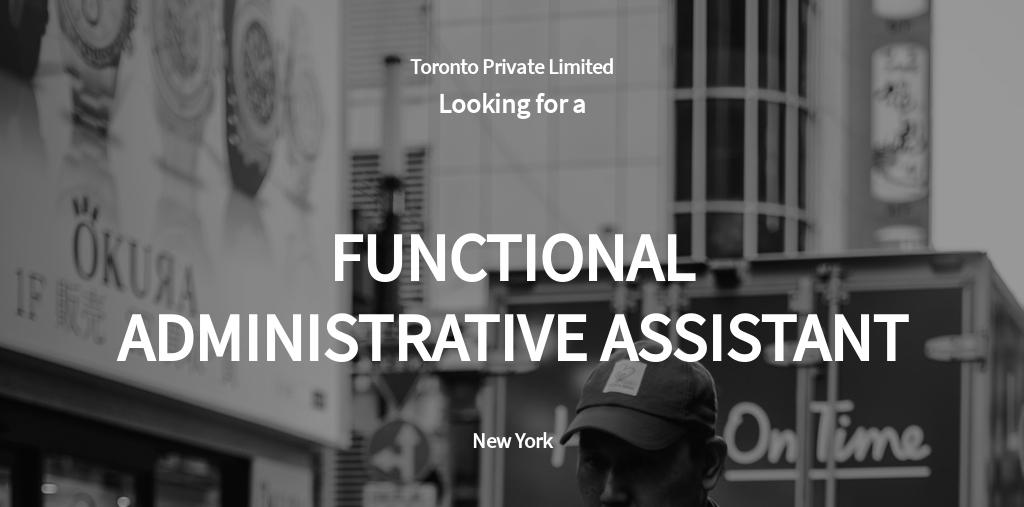 Free Functional Administrative Assistant Job Ad/Description Template.jpe